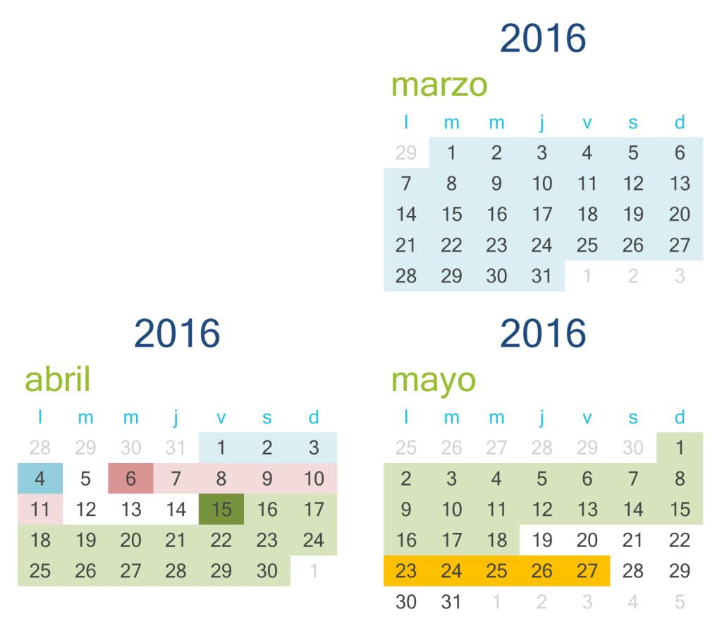 Calendario congreso TIC