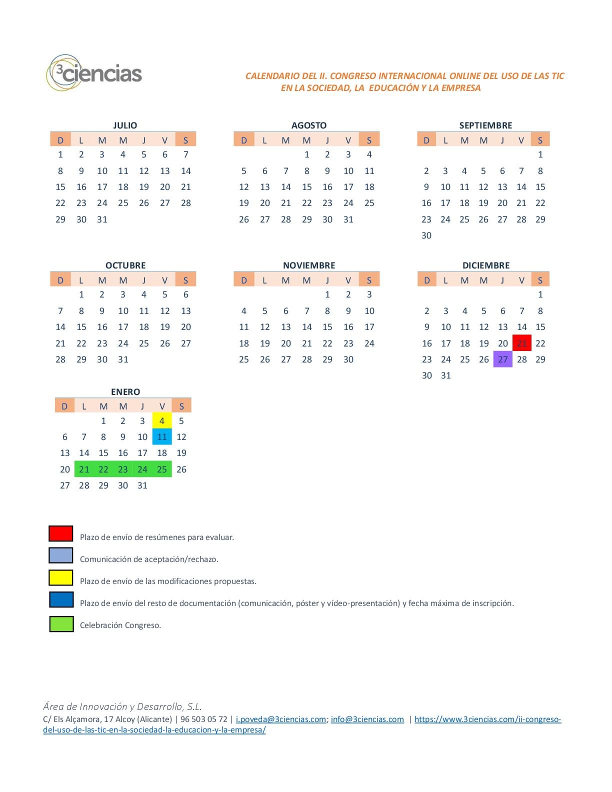calendario congreso