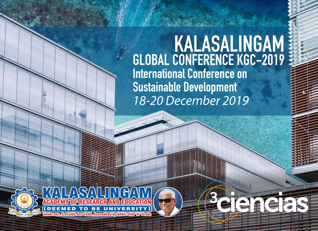 Kalasalingam Global Conference, KGC-2019 - Noticias - 3Ciencias